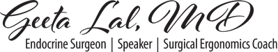 Dr Geeta Lal Surgeon Ergonomics speaker coach logo